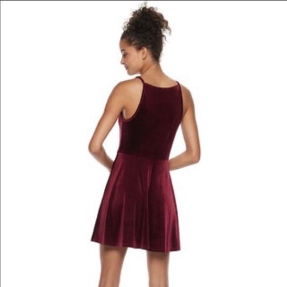 Speechless Juniors Plus Size Velvet Skater Dress NWT
